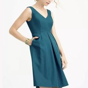 J Crew Teal Kami Formal Dress in Classic Faille